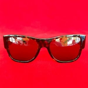 Versace Men's Tortoise Shell Polarized Sunglasses